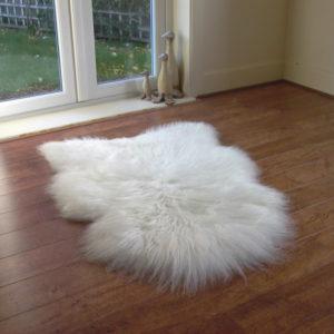 Izlandi fehér báránybőr